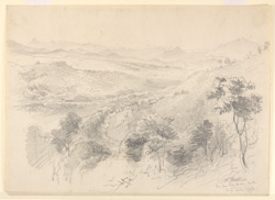 View from Lady Horton's Walk, Kandy (Ceylon). 15 April 1870